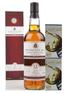 SYNDICATE 12 YO 70 CL | pahare cristal 2 X 175 ml | Cadou Whisky & Pahare