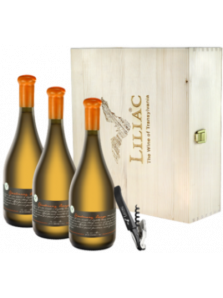 Liliac Chardonnay Orange Verticala Cutie Lemn | Liliac Winery | Lechinta