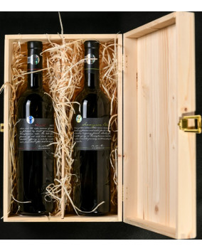 Cutie lemn Liliac Private Selection cu 2 sticle | The Wine of Transilvania