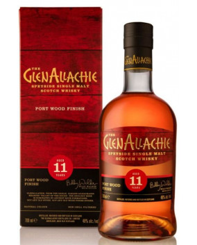 GlenAllachie 11 yo Port Wood Finish | Speyside Single Malt Scotch Whisky | 70 cl, 48 %